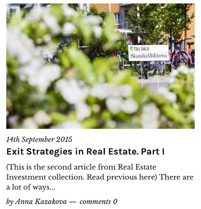 New article about exit strategies from real estate investment deals!hellip