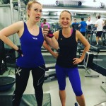"Girlspower in gym! Oxana ""disappears"" faster than me :-) vegetarians - what to say!"
